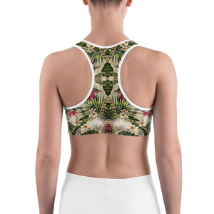 CAMOUFLAGE FLOWER Sports Bra - US FITGIRLS