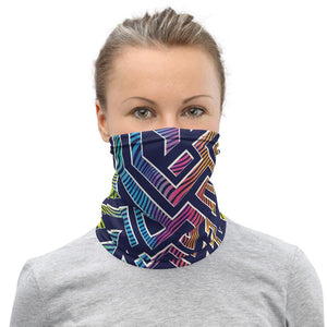 Rainbow color maze Neck Gaiter - US FITGIRLS