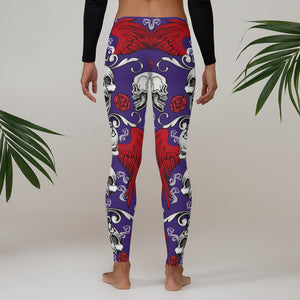 Skulls and Wings Leggings - US FITGIRLS