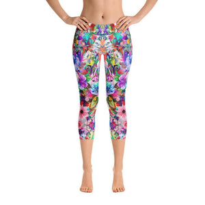 Floral Capri Leggings - US FITGIRLS