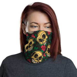 skulls and flowers Neck Gaiter - US FITGIRLS