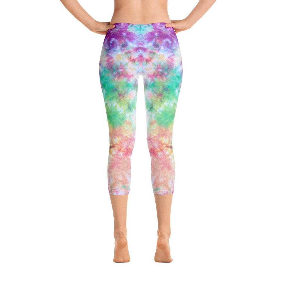 Colorful Tie Dye Capri Leggings - US FITGIRLS