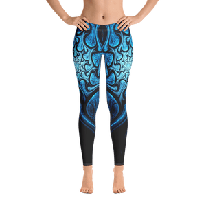 Blue Fractal Leggings - US FITGIRLS