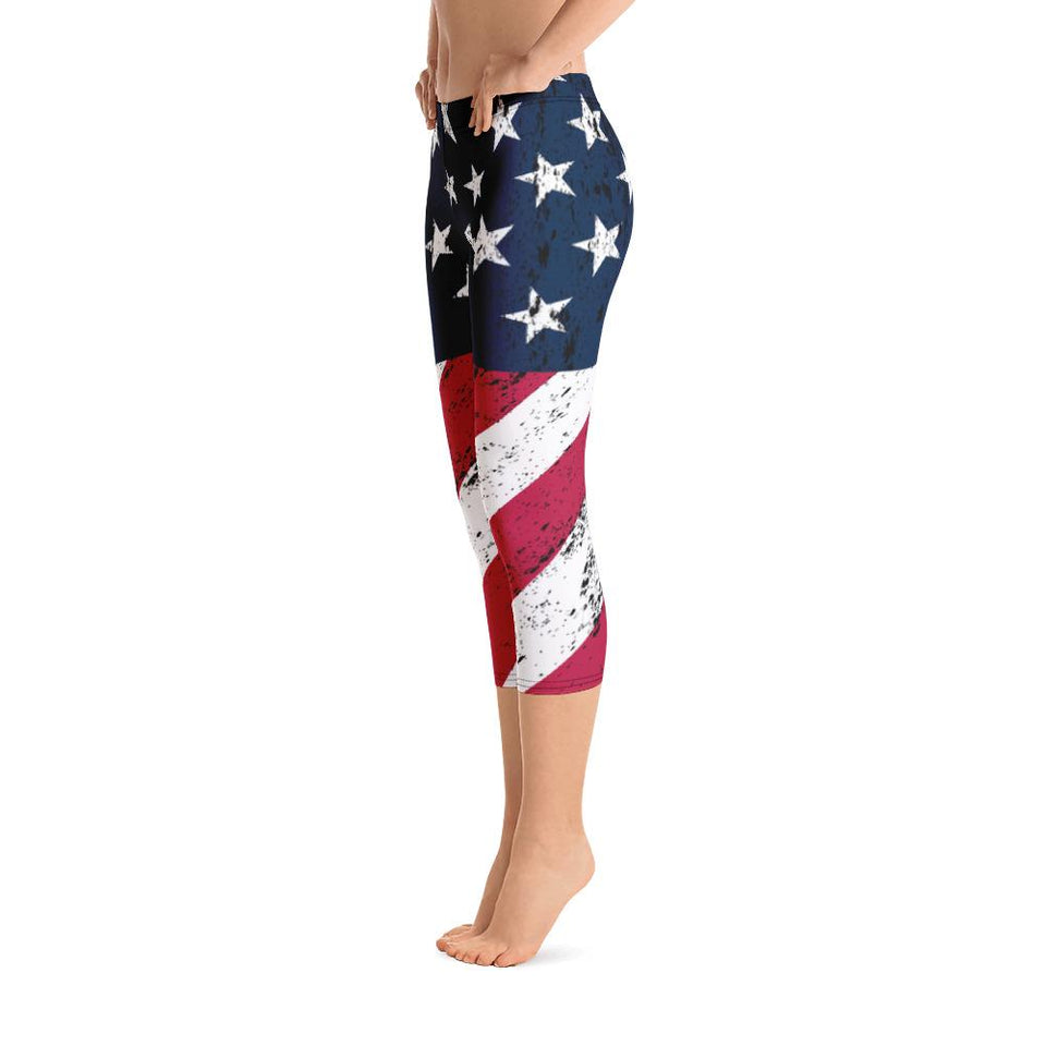 AMERICAN FLAG Capri Leggings - US FITGIRLS