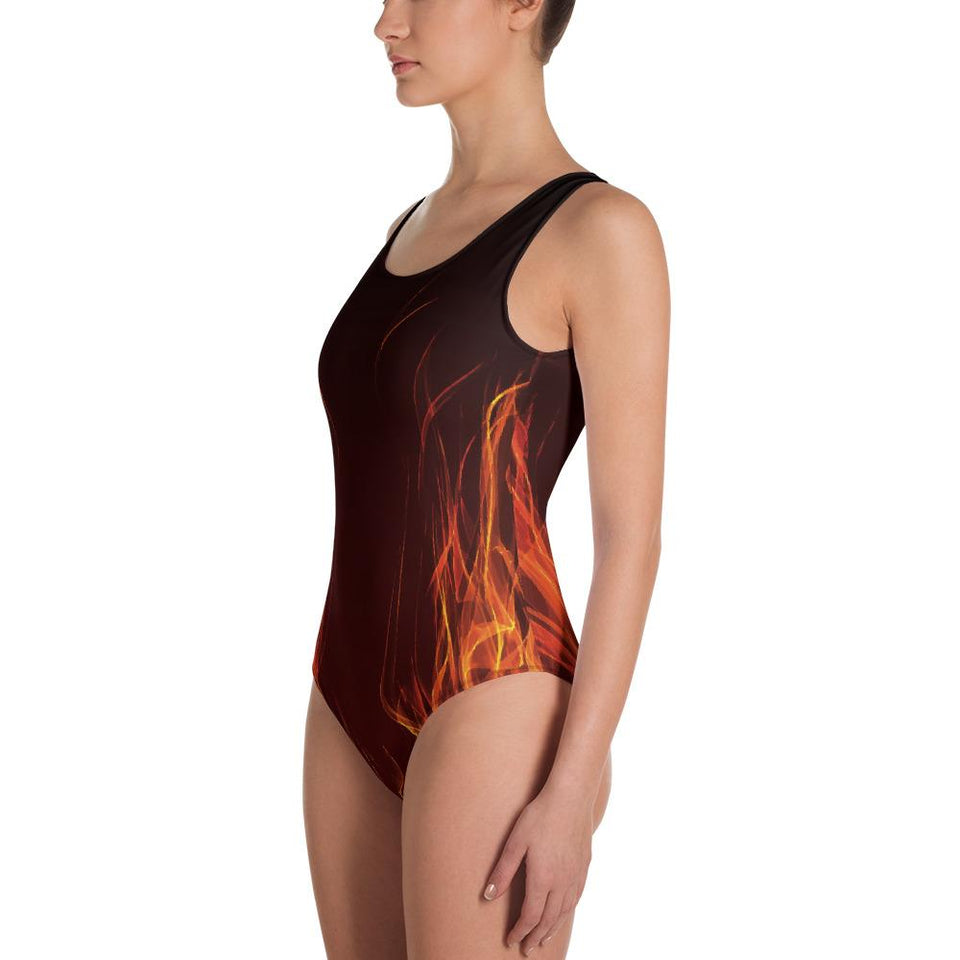 Flames Swimsuit - US FITGIRLS
