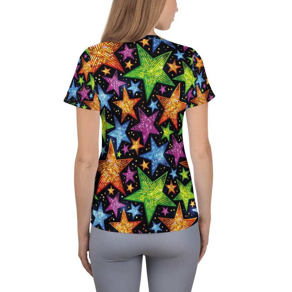 Bright Stars Athletic T-shirt - US FITGIRLS