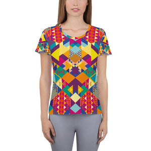 geometric colors Athletic T-shirt - US FITGIRLS