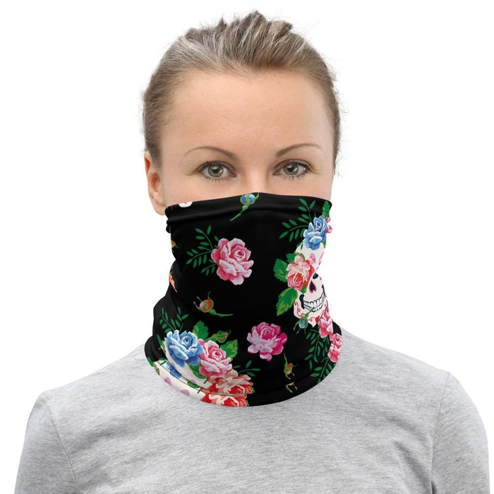 Flower Sugar Skulls Neck Gaiter - US FITGIRLS