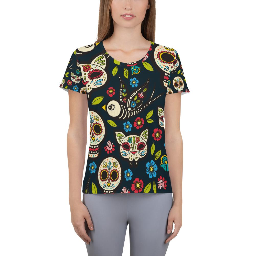 day of the dead Athletic T-shirt - US FITGIRLS