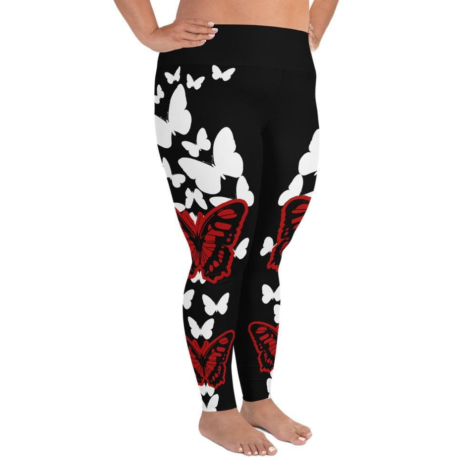 BUTTERFLY Plus Size Leggings - US FITGIRLS