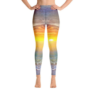 SEA SUNSET Yoga Leggings - US FITGIRLS
