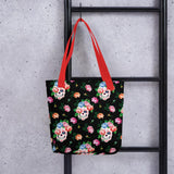 Sugar Flower Skull Tote bag - US FITGIRLS