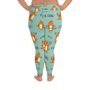 Motivation Cats Plus Size Leggings - US FITGIRLS