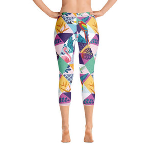 Birds Capri Leggings - US FITGIRLS