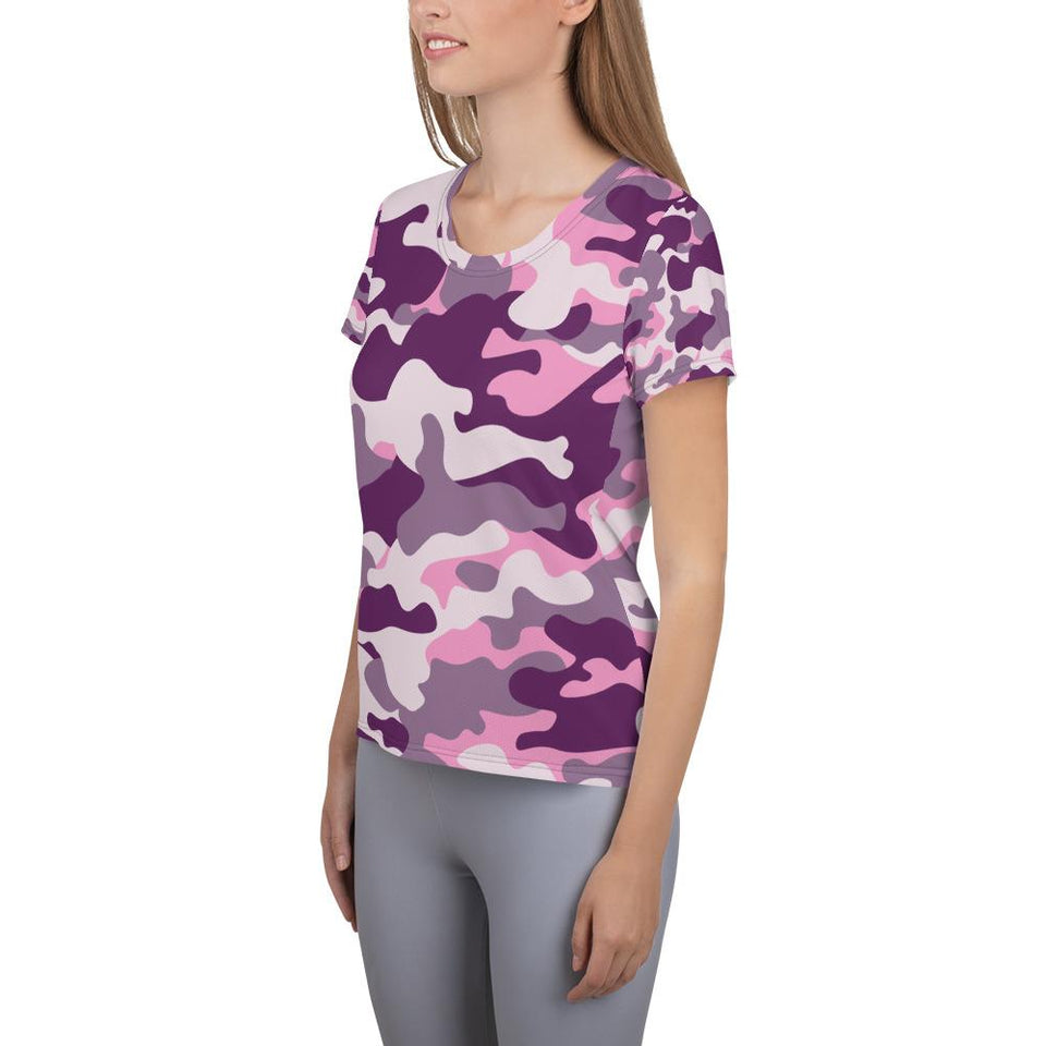 PINK CAMOUFLAGE Athletic T-shirt - US FITGIRLS