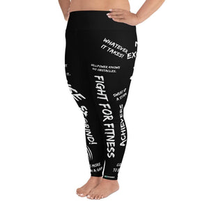 WHATEVER IT TAKES! Print Plus Size Leggings - US FITGIRLS