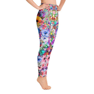 Floral Yoga Leggings - US FITGIRLS