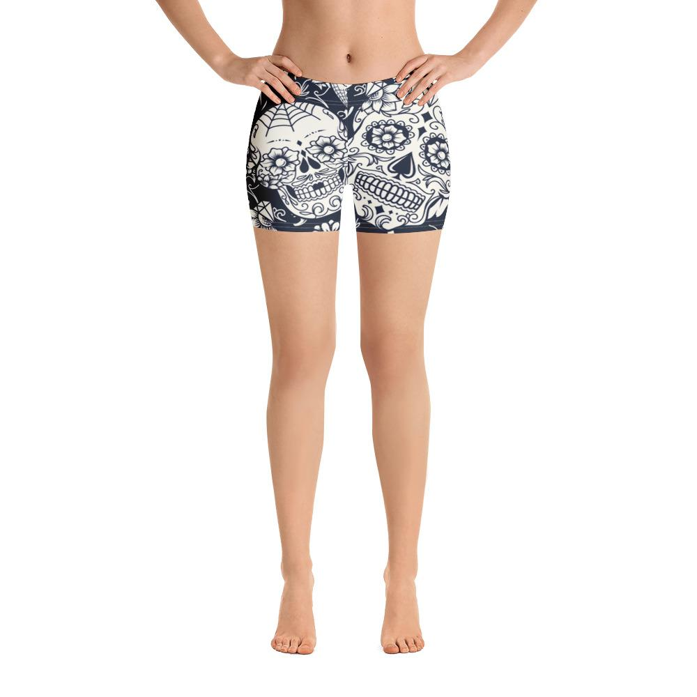 Sugar Skull White Shorts - US FITGIRLS