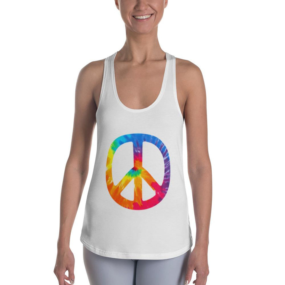Peace Sign Racerback Tank - US FITGIRLS