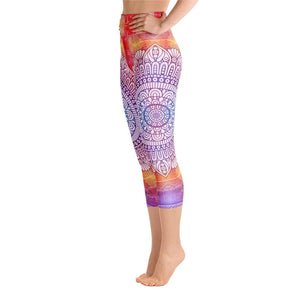 MANDALAS Yoga Capri Leggings - US FITGIRLS