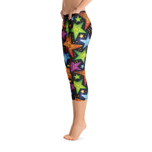 Bright Stars Capri Leggings - US FITGIRLS