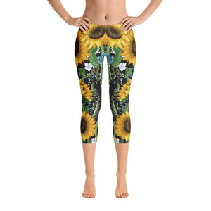 SUNFLOWER Capri Leggings - US FITGIRLS
