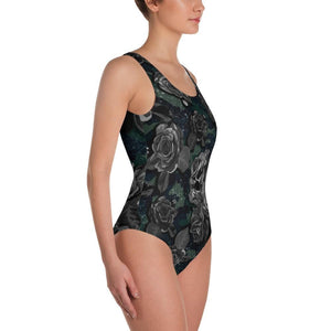 CAMOUFLAGE WITH FLOWER Swimsuit - US FITGIRLS