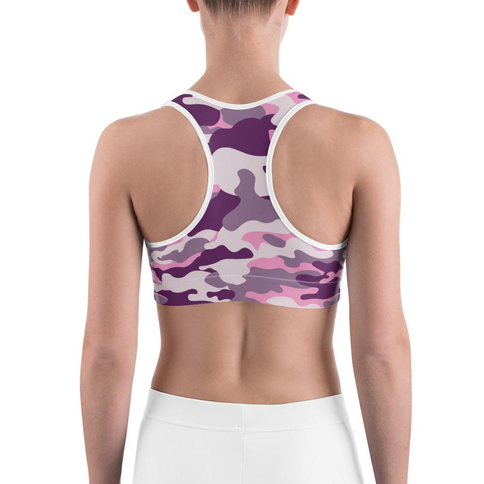 PINK CAMOUFLAGE Sports bra - US FITGIRLS