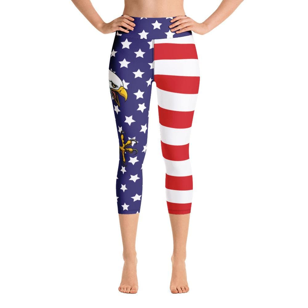 USA Pride Yoga Capri Leggings - US FITGIRLS