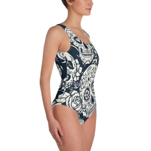 Sugar Skull White Swimsuit - US FITGIRLS