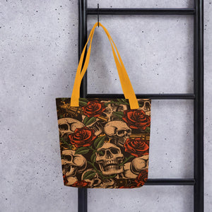Skull and Roses Tote bag - US FITGIRLS