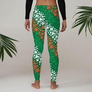 Irish Clover Flag Leggings - US FITGIRLS