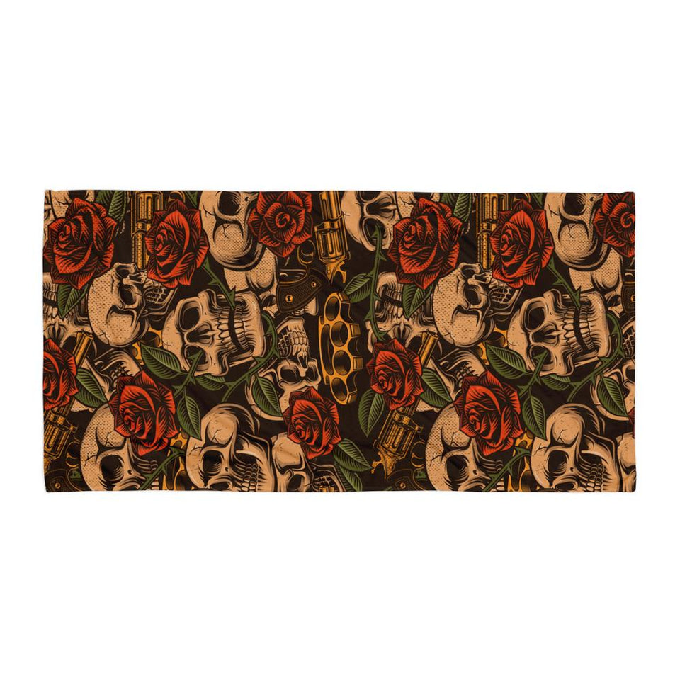 Skulls and Roses Towel - US FITGIRLS