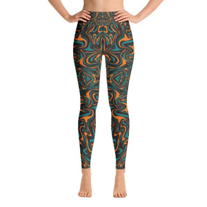 PSYCHEDELIC NEON PAINT Yoga Leggings - US FITGIRLS
