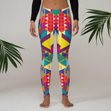 geometric colors Leggings - US FITGIRLS