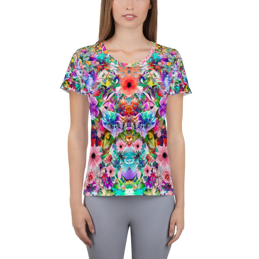 Floral Athletic T-shirt - US FITGIRLS