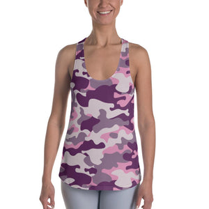 PINK CAMOUFLAGE  Racerback Tank - US FITGIRLS
