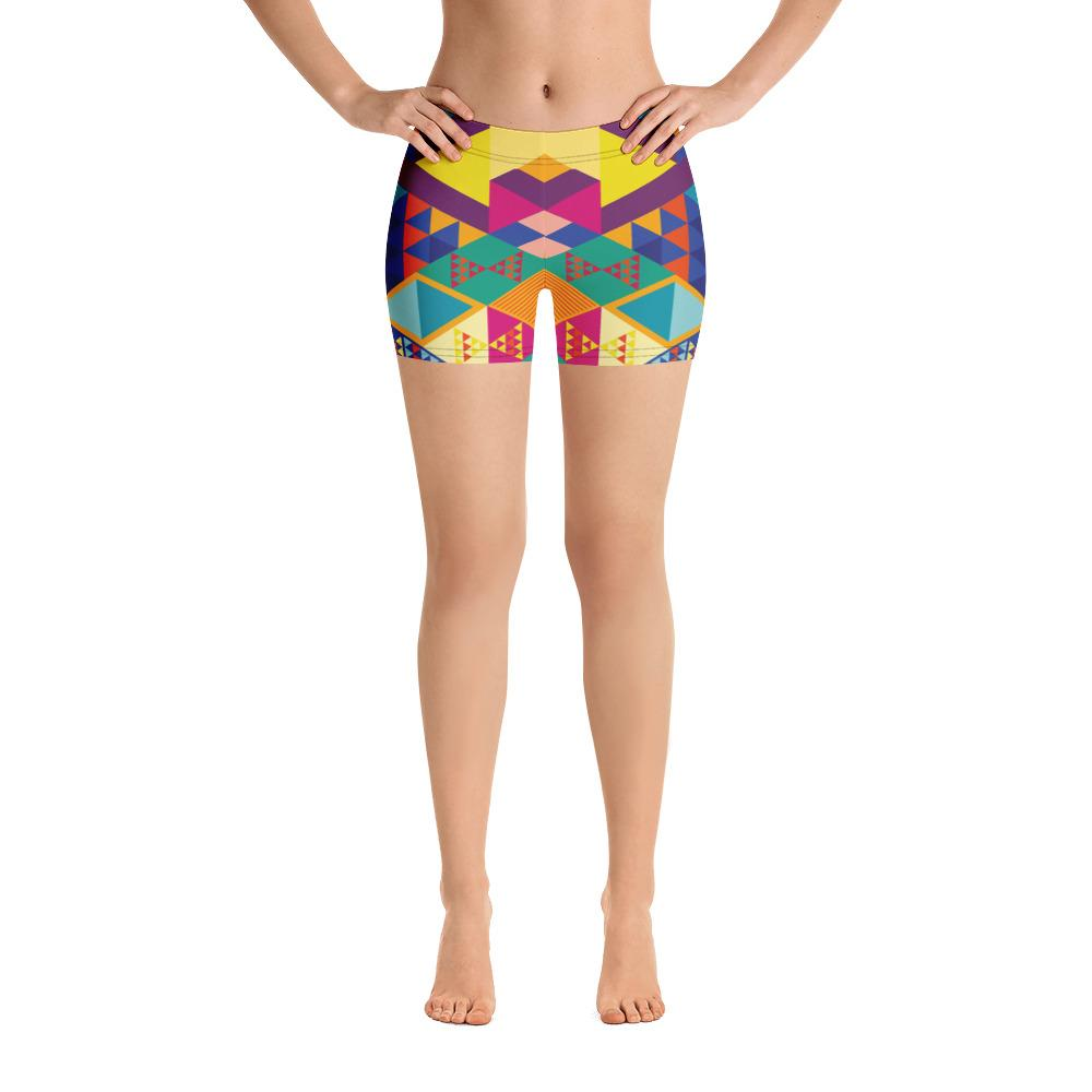 GEOMETRIC COLORS Shorts - US FITGIRLS