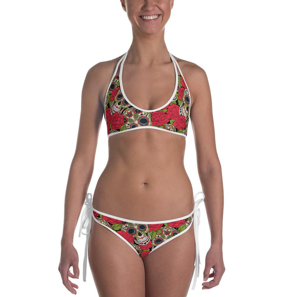 Skulls And Roses Bikini - US FITGIRLS