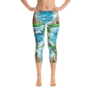 Summer Waves Capri Leggings - US FITGIRLS