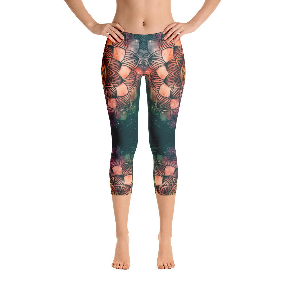 UNIVERSE MANDALA Capri Leggings - US FITGIRLS