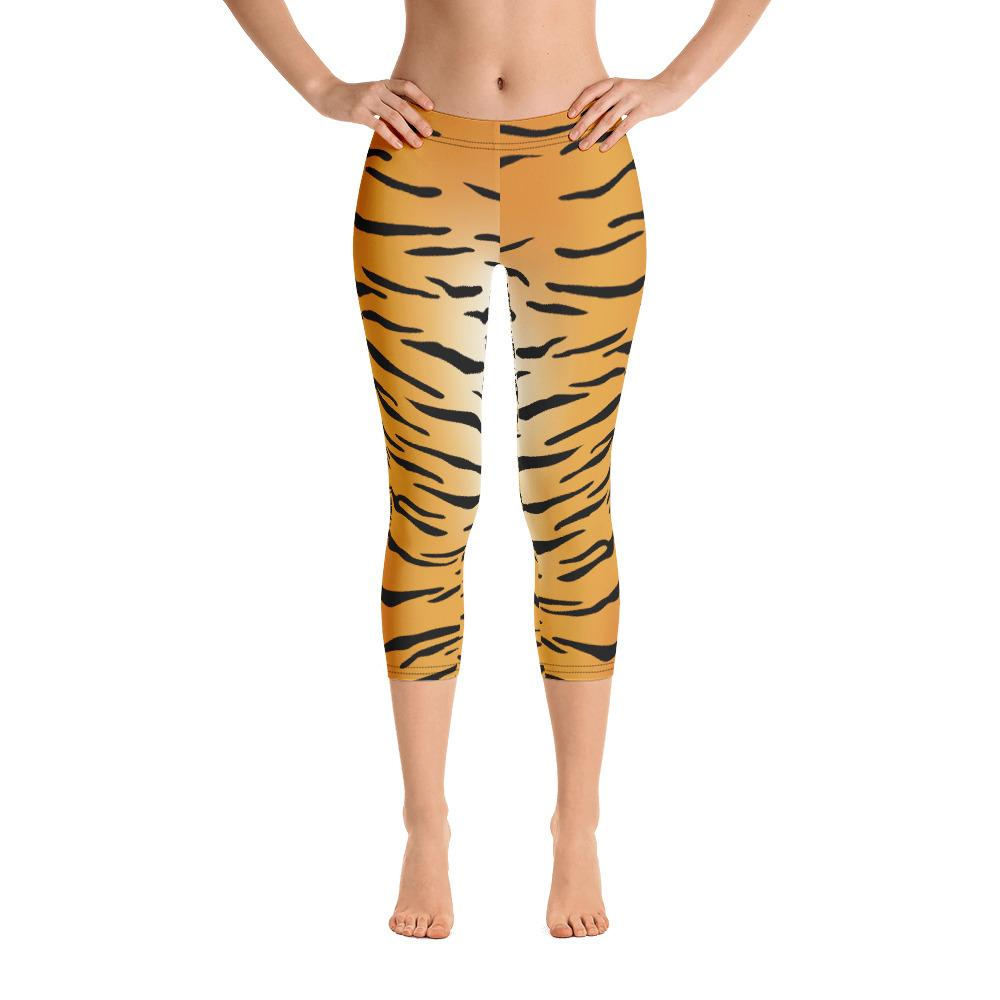 Tiger Print Capri Leggings - US FITGIRLS