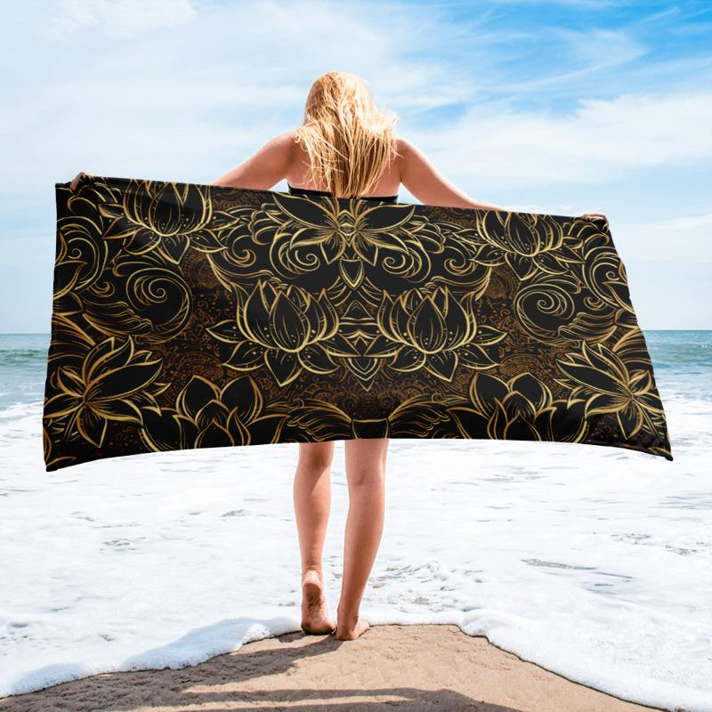 GOLDEN LOTUS Towel - US FITGIRLS