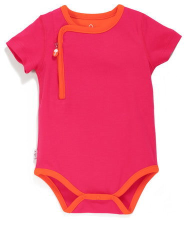 zip-up bodysuit giggle pink