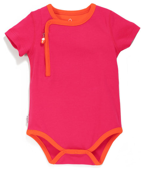 zip-up bodysuit giggle pink - Zipit® | Babywear with Zips for Easier Dressing