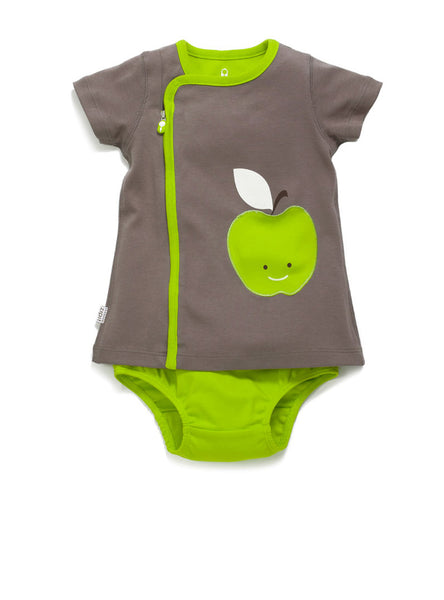 zip-up apple dress - Zipit® | Babywear with Zips for Easier Dressing