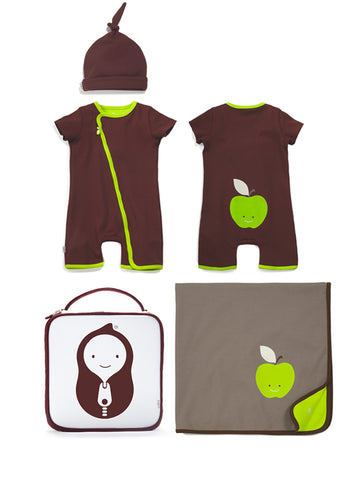 apple romper gift set