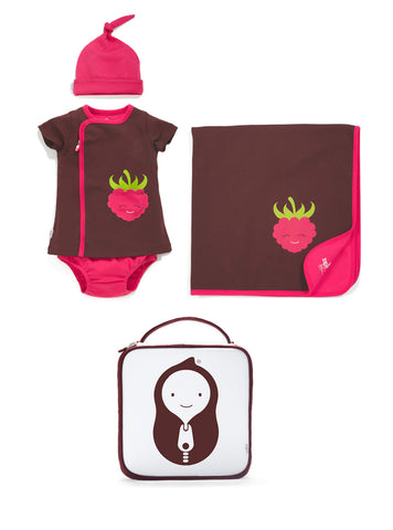 4-piece berry dress set
