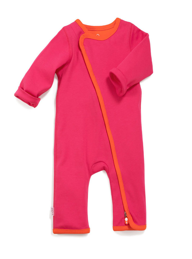 zip-up babygrow giggle pink - Zipit® | Babywear with Zips for Easier Dressing