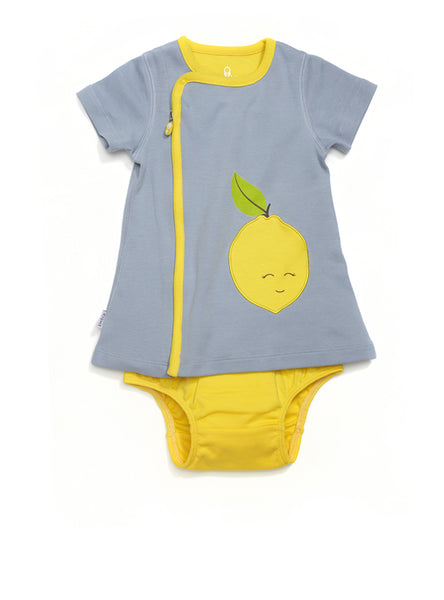zip-up lemon dress - Zipit® | Babywear with Zips for Easier Dressing